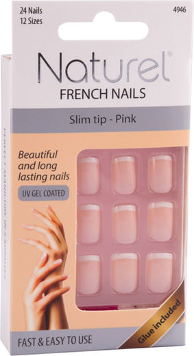 Naturel kynnet short tip pink
