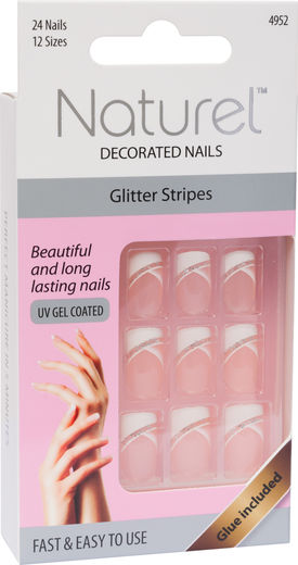 Naturel kynnet glitter stripe
