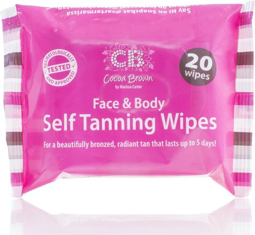 Cocoa brown self tanning wipes 20 kpl