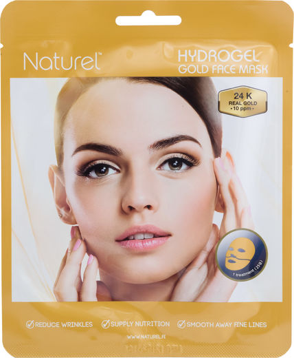 Naturel hydrogel gold kasvonaamio