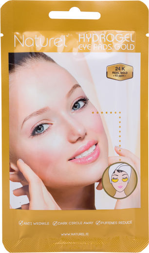 Naturel hydrogel gold eye pads