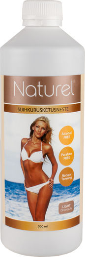 Naturel suihkurusketusneste light 500 ml