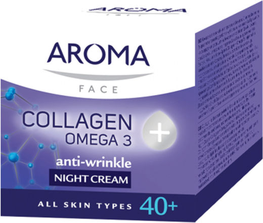 Aroma 40+collag omega 3 night cream 50 ml