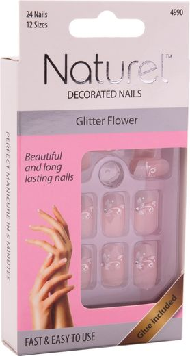 Naturel kynnet glitter flower