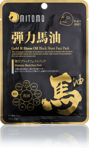 Mitomo Sheet Mask - Gold & Horse Oil 25g